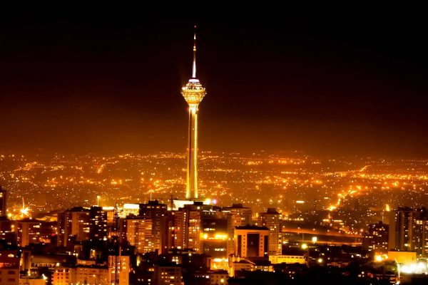 Milad Tower in night